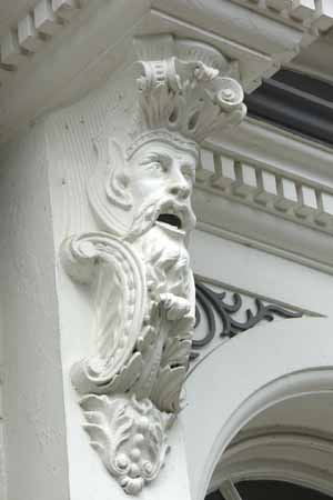 Architectural decoration on a pair of villas on North Parade