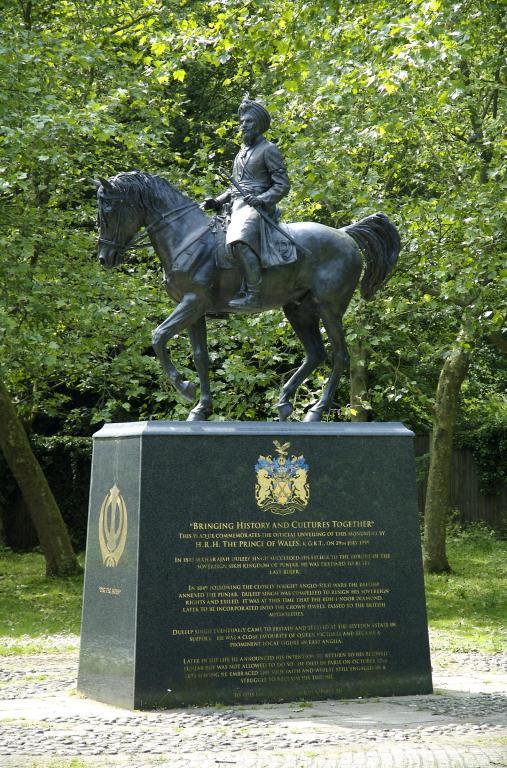 Memorial sculpture of Maharajah Duleep Singh from the ...